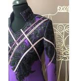 DE-Showoutfits DE Veste De Protection Géométrique Noir / Violet taille S