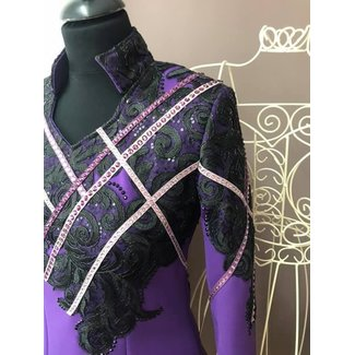 DE Showjacket Geometric Black/Purple mt S