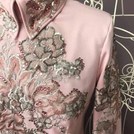 DE-Showoutfits DE Showjacket Vintage Pink Flower Größe M