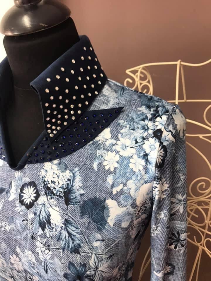 DE-Showoutfits DE Slinkie Blue Bouquet mt S