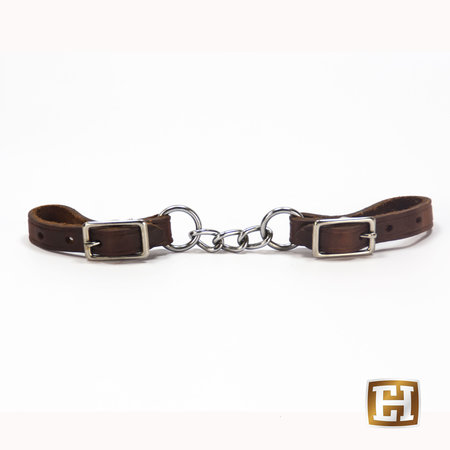 Berlin custom leather Small twisted chain curb