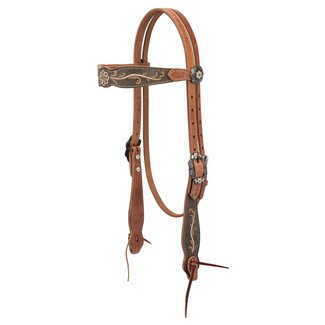Weaver Leather Country Charm browband hoofdstel