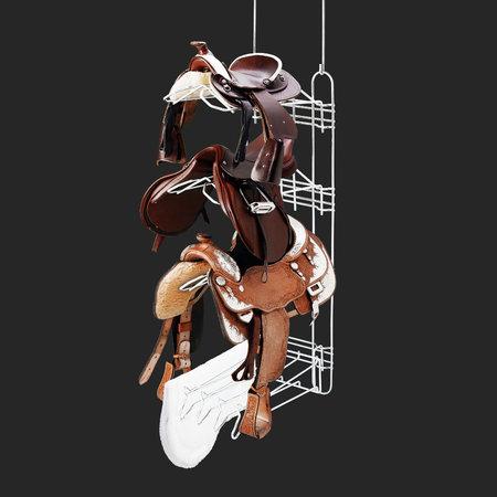 Royal Wire Equine Main frame, 3 saddle racks, 1 padholder