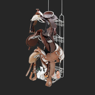 Royal Wire Equine Main Frame, 3 saddle racks, 1 basket