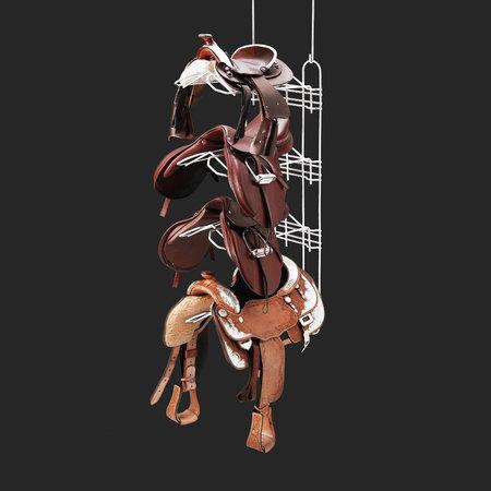 Royal Wire Equine Main frame 4 saddle racks