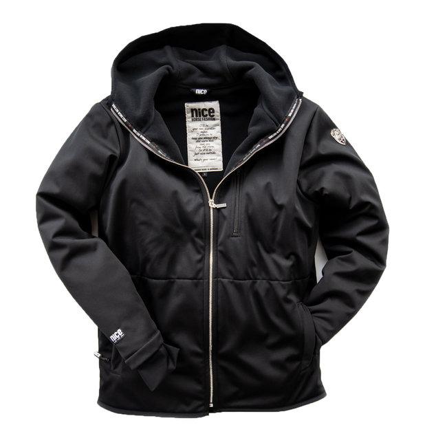 Nice Horse Fashion Stormlock winter-jacket men black kaputze