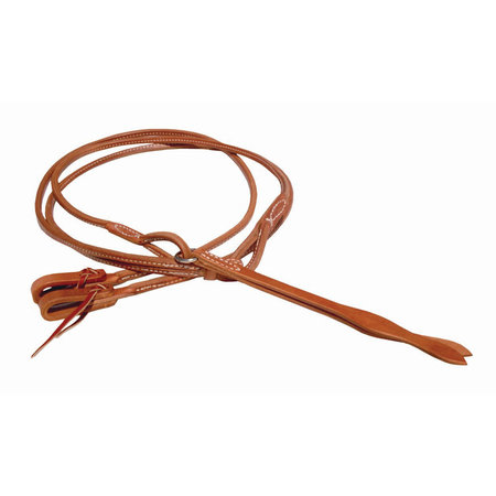 Berlin custom leather Stitched Romal reins