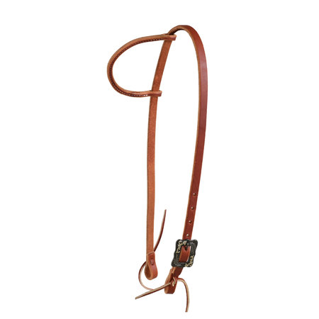 Berlin custom leather Rolled ear Headstall with BK Steel Buckle