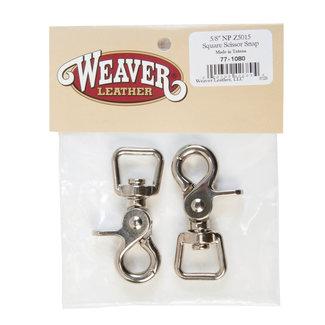 Weaver Leather Square Scissor Snaps 2x / Teugelclips