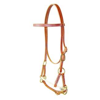 Berlin custom leather Single Rope Sidepull