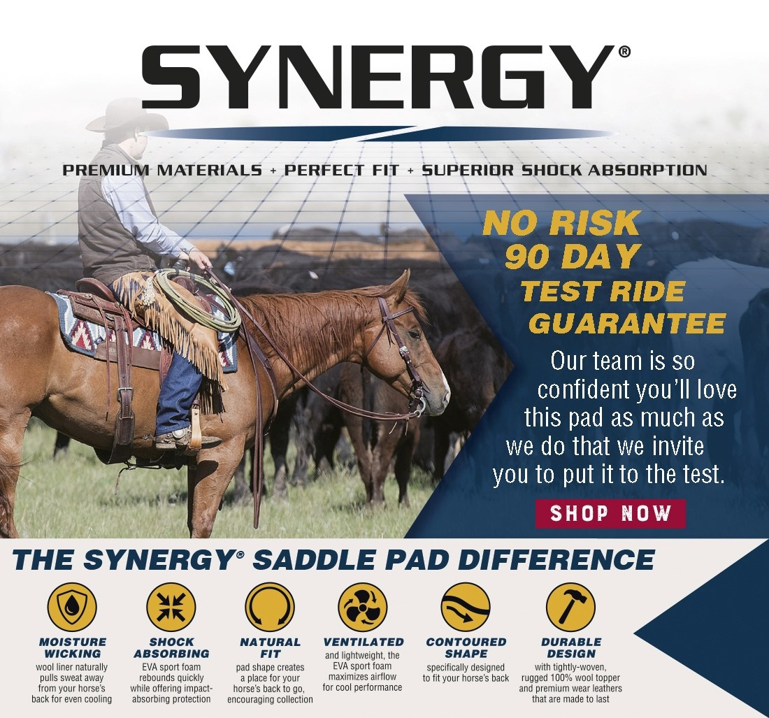 Weaver Leather Synergy Natural Fit performance Saddle Pad Switchback