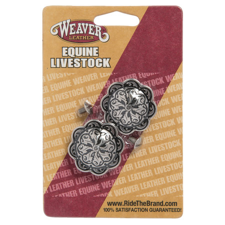 Weaver Leather Horse Shoe Brand Conchos with Post