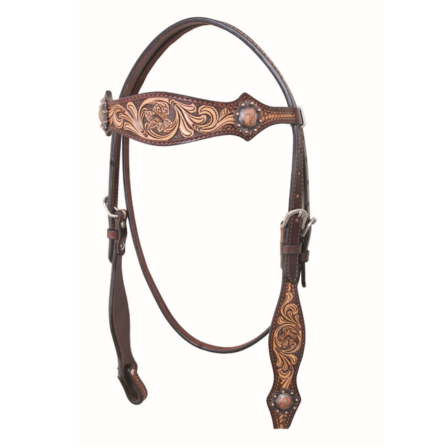 Country Legend Two-Tone Browband Headstall