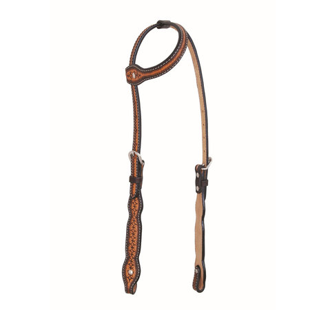 Jim Taylor Custom saddle Infnity Scallop Headstall by Jim Taylor