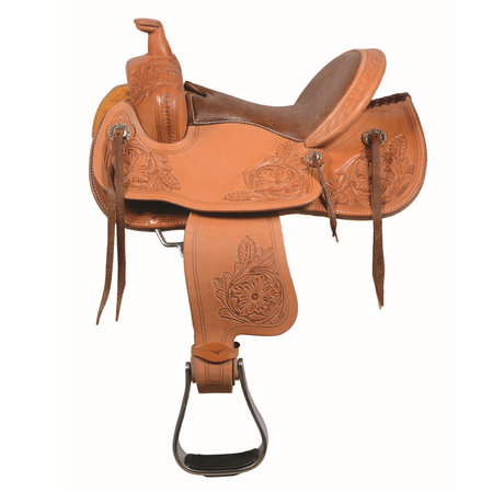 "Western Rawhide Yough saddle,12"" Golden"