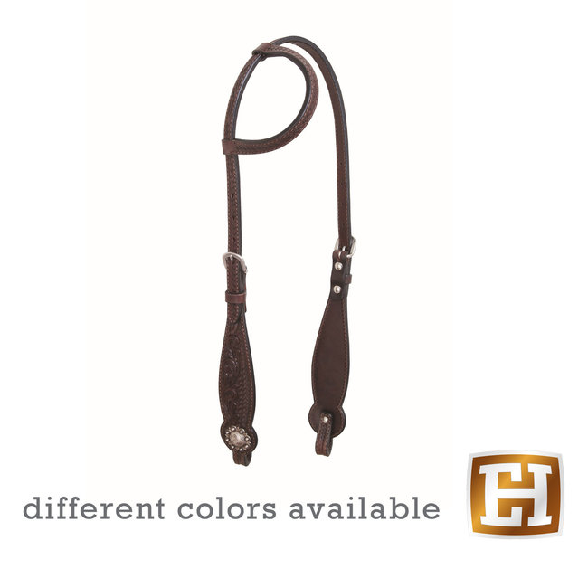 Country Legend Floral and Basket two ear headstall
