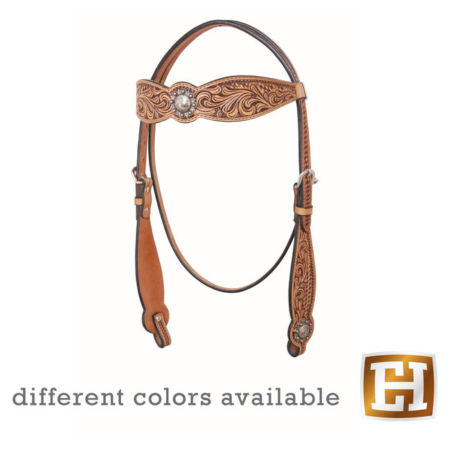 Country Legend Floral and Basket Browband Headstall