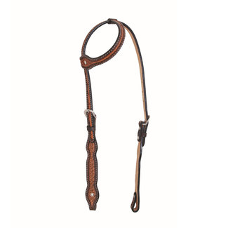 Jim Taylor (by Western Rawhide) Diamond Scallop Headstall by Jim Taylor