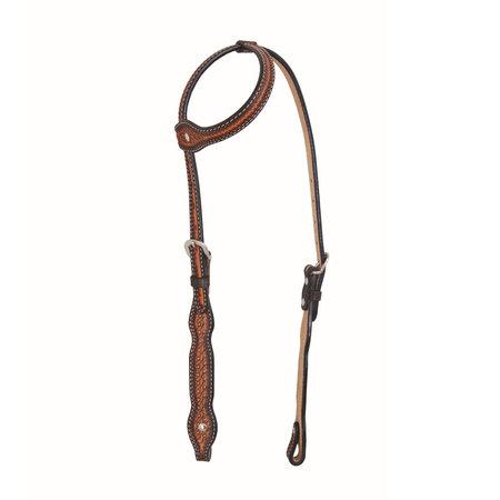 Jim Taylor Custom saddle Diamond Scallop Headstall by Jim Taylor