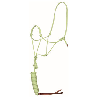 Mustang Bamboo Rope halter with lead