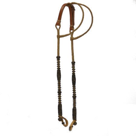 Rawhide M.G.F Handmade Rawhide Two ear Headstall