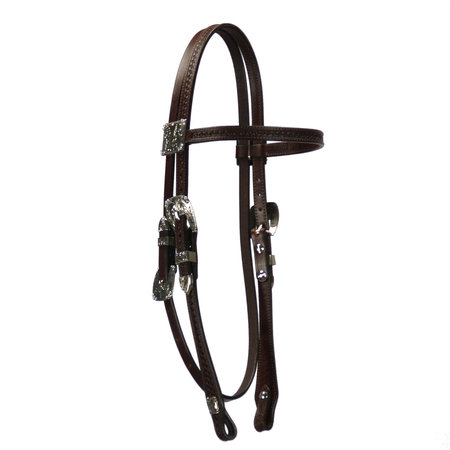 Hanssen Silver Show Browband Headstall Mantanillo