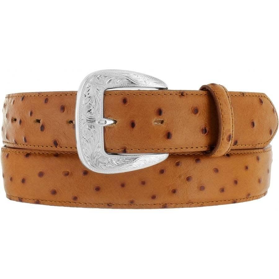 Tony Lama Ostrich Dress Belt