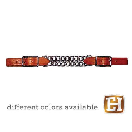 Berlin custom leather Curb Double Chain