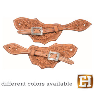 Western Rawhide Floral Spur Straps