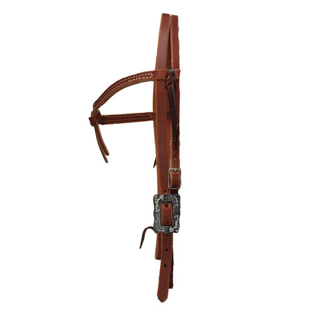 Berlin custom leather Futurity Knot Headstall with  BK Steel Buckle
