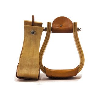 "Country Legend Wooden stirrups 3 ""bell"