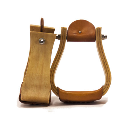 """Country Legend Wooden stirrups 3 """"bell"""