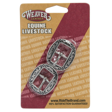 Weaver Leather Horse Shoe Brand Floral Buckles