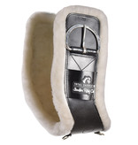 Total Saddle Fit Shoulder Relief Cinch white fleece 100%  wool