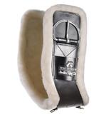 Total Saddle Fit Shoulder Relief Singel met wit fleece 100% wol