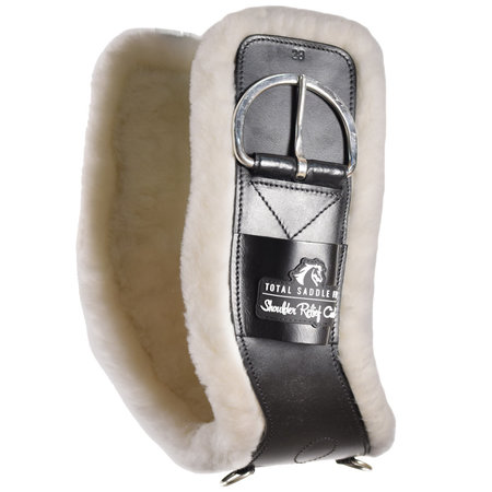 Total Saddle Fit Shoulder Relief Cinch white fleece 100% Wolle