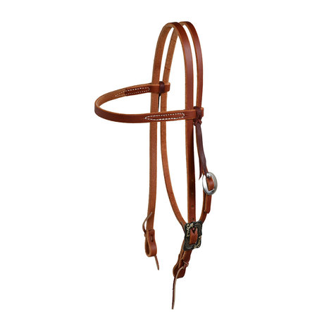 Berlin custom leather Reg Browband Headstall with BK steel buckle