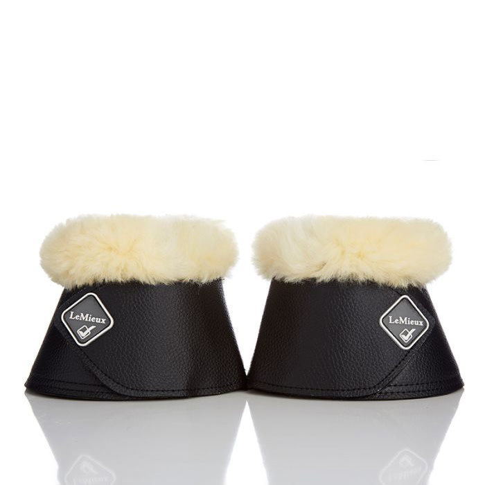 LeMieux Lambskin Wrapround Over Reach Boots Black/Natural