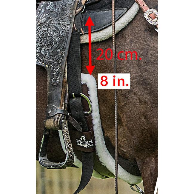Classic Equine Feather Flex straight cinch Black