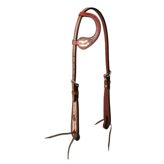 Turquoise Cross Coco Feather Sliding Ear Headstall