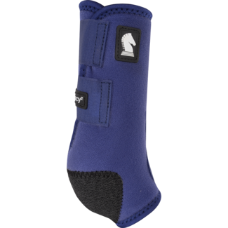 Classic Equine Legacy Boots Front Solid Navy Medium