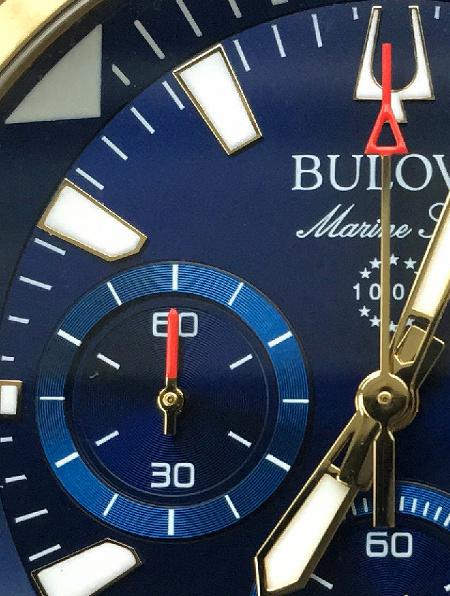 Bulova Marine Star 97B168 detail
