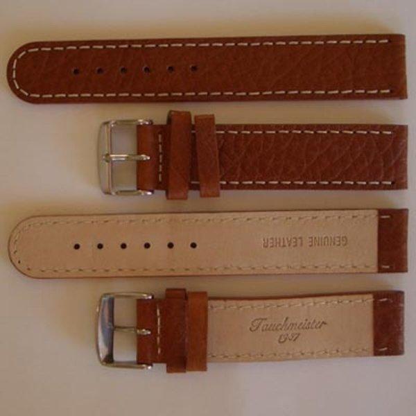 Tauchmeister Tauchmeister 20mm bruin lederen horlogeband S20-brown