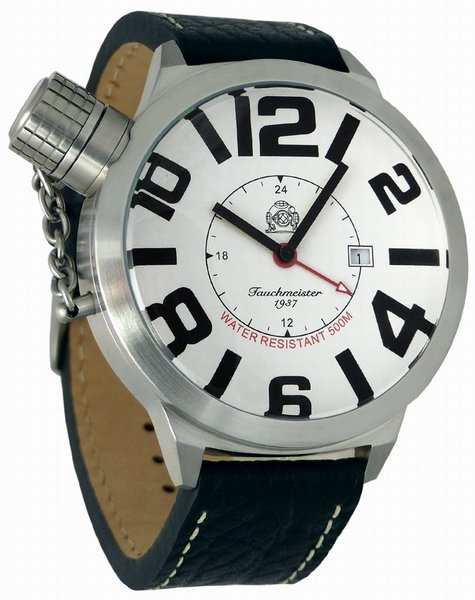Tauchmeister Tauchmeister XXL WO II Duits horloge 52mm T0142