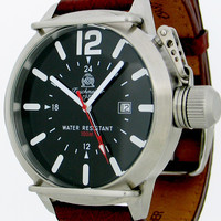 Tauchmeister Tauchmeister XL militairy GMT duikhorloge T0135