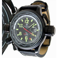 Tauchmeister Tauchmeister XXL Military Worldtimer met GMT T0182