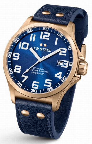 TW Steel TW Steel CE6001 CEO Pilot horloge Swiss Made 48mm
