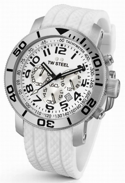 TW Steel TW Steel TW95 White Diver Herenhorloge 48 mm DEMO