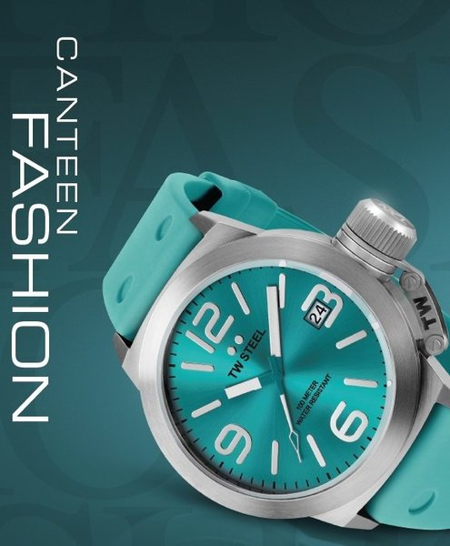 TW Steel TW Steel TW525 Canteen Fashion horloge turquoise 45 mm