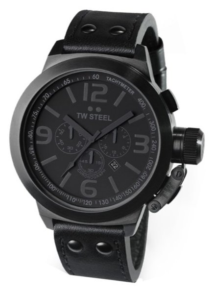 TW Steel TW Steel TW821 Cool Black Chrono horloge 50mm DEMO